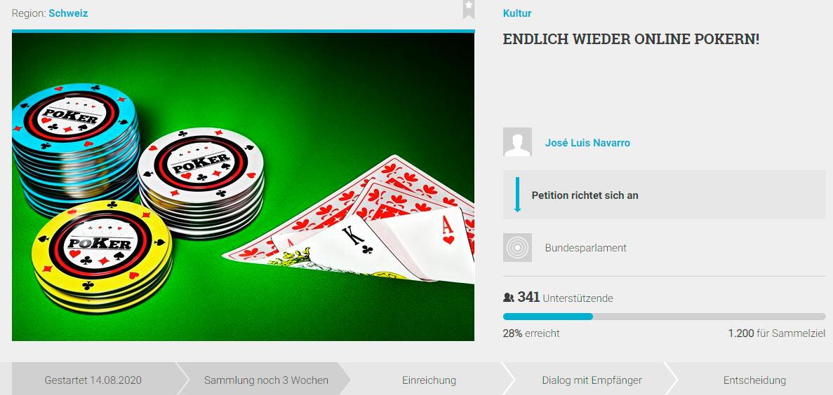 Online Petition José Luis Navarro - Online Poker