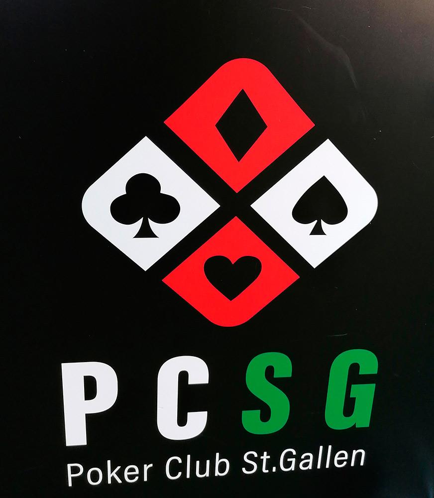 Das erste Turnier wurde im Pokerclub St. Gallen (PCSG) ausgetragen